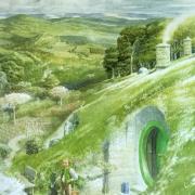 Bilbo ante la puerta de Bolsón Cerrado