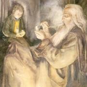 Frodo y Gandalf