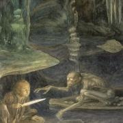 Bilbo se encuentra con Gollum