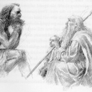 Beorn, Gandalf y Bilbo