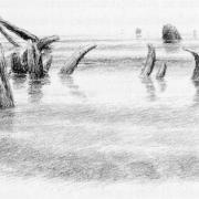 Ruinas en el lago
