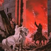 Gandalf y Nazgul