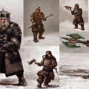 Diseños conceptuales de las armaduras de Dori, Glóin, Bofur, Bifur y Dwalin