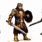 Diseños conceptuales de las armaduras de Fili, Thorin y Kili