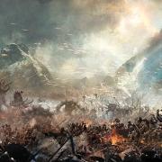 Boceto de arte conceptual de la Batalla de los Cinco Ejércitos