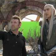 Lee Pace en el decorado de las ruinas de Valle