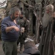 Peter Jackson e Ian McKellen en Valle