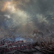 Arte conceptual de la batalla de Gus Hunter