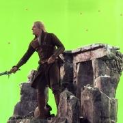 Orlando Bloom rueda una escena de acción