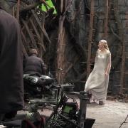 Cate Blanchett en el decorado de Dol Guldur