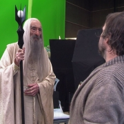 Christopher Lee y Peter Jackson