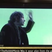 Bilbo en el bote de Bardo