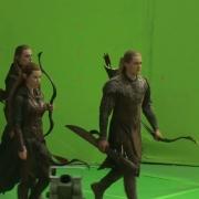 Tauriel y Legolas al frente de una tropa élfica
