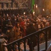Bardo y Thorin en Esgaroth