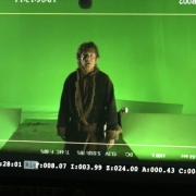 Bilbo frente a un invisible Smaug
