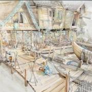 Boceto del mercado de Esgaroth