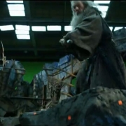 Conan Stevens e Ian McKellen en Dol Guldur