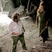 Peter Jackson y Evangeline Lilly