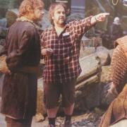 Martin Freeman, Peter Jackson y Graham McTavish en Erebor