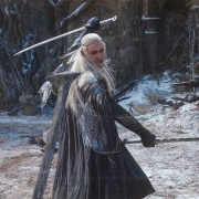 Thranduil combate a los Orcos en Valle