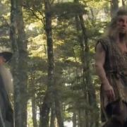 Gandalf y Beorn en el bosque