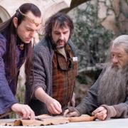 Hugo Weaving, Peter Jackson e Ian McKellen