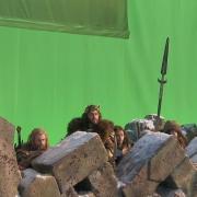 Thorin y los Enanos tras el parapeto de Erebor
