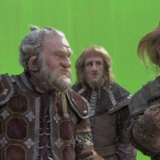 Mark Hadlow, Adam Brown y Jed Brophy