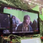 Bilbo y los Enanos en la Colina del Cuervo