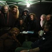 Peter Jackson y un grupo de Enanos