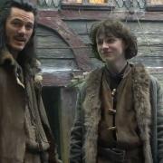 Luke Evans y John Bell en Esgaroth