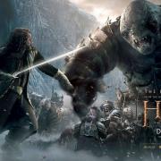 Banner de Thorin, Fili y Kili luchando con un Troll