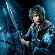 Banner de Bilbo enfrentándose a las Arañas