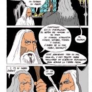Comic Gandalf y Saruman