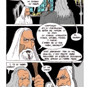 Comic Gandalf y Saruman