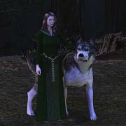 Lúthien y Huan por Elfo_Negro