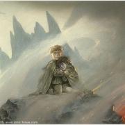 Frodo y Sam en Mordor