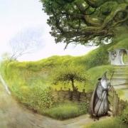Gandalf en casa de Bilbo