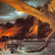 Smaug destruye la Ciudad del Lago