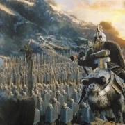 Dáin al frente de su ejército
