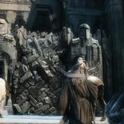 Gandalf trata de razonar con Thorin