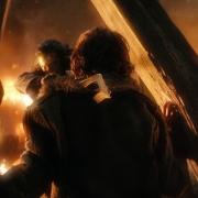 Bardo y Bain preparados para disparar la Flecha Negra
