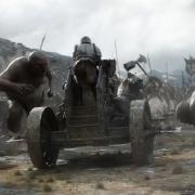 Los ogros atacan a los carros de guerra