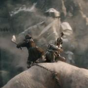 Bofur mata al Orco que controla el Troll