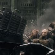Dwalin, Fili, Balin y Kili en el carro