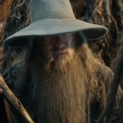 Radagast le entrega su vara a Gandalf