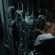 Bilbo y Bofur en la puerta de Erebor