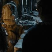 Bofur se despide de Bilbo