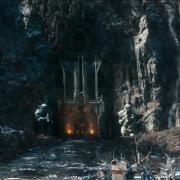 La puerta principal de Erebor vista desde Valle