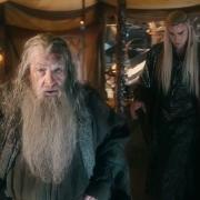 Gandalf, Thranduil y Bardo en Valle